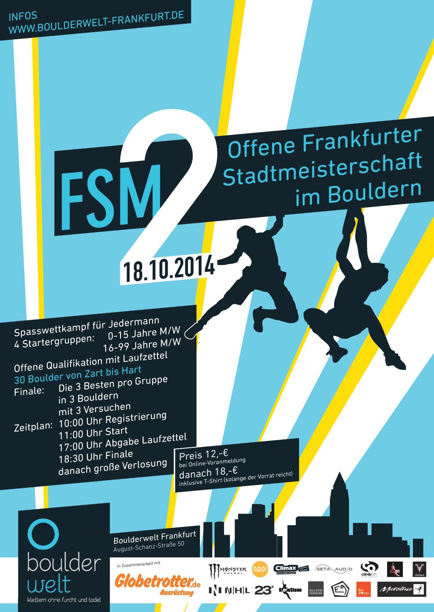 Frankfurter Stadtmeisterschaft im Bouldern - Fotocredit: Boulderwelt Frankfurt